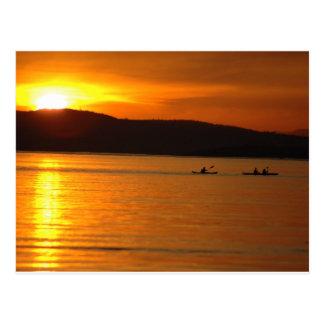 Sonnenuntergang Kaykers Postkarte