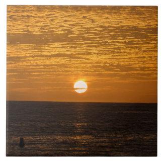 Sonnenuntergang-Keramik-Fotofliese Fliese