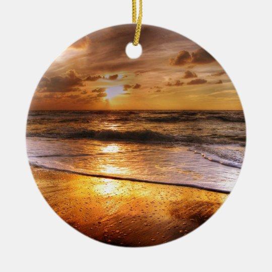 Sonnenuntergang Keramik Ornament