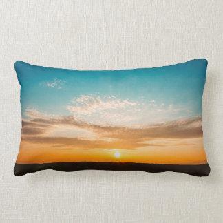 Sonnenuntergang-Kissen Lendenkissen