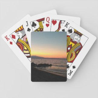 Sonnenuntergang-klassische Spielkarten