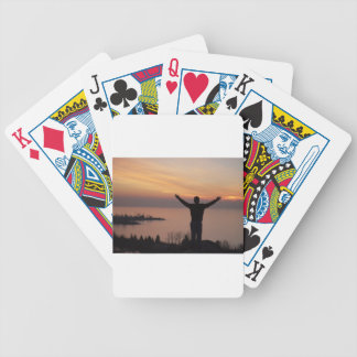 Sonnenuntergang-Klippe Bicycle Spielkarten