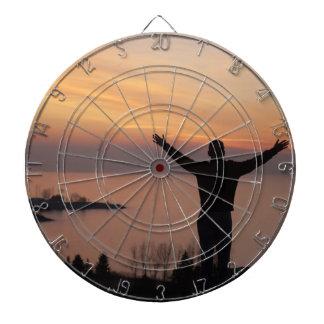 Sonnenuntergang-Klippe Dartscheibe