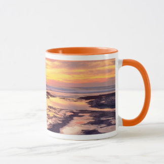 Sonnenuntergang-Klippen-Gezeitenpools Tasse