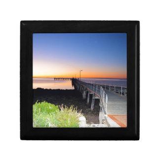 Sonnenuntergang-Küsse, Hafen Victoria Australien, Erinnerungskiste