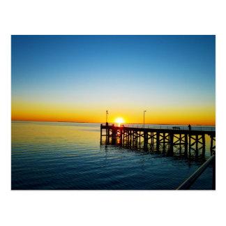 Sonnenuntergang-Küsse, Hafen Victoria Postkarte