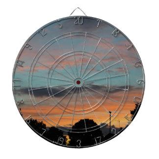 Sonnenuntergang-Landschaft Dartscheibe