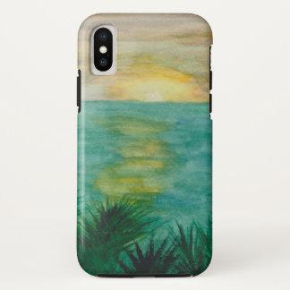 Sonnenuntergang-Landschaft iPhone X Hülle