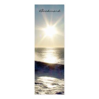 Sonnenuntergang-Lesezeichen Jumbo-Visitenkarten
