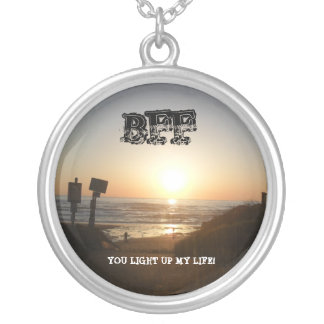 Sonnenuntergang leuchten Sie meiner Leben BESTE Halskette Mit Rundem Anhänger