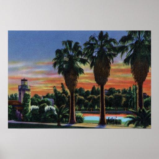 Sonnenuntergang Los Angeless Kalifornien am Echo-P Posterdrucke