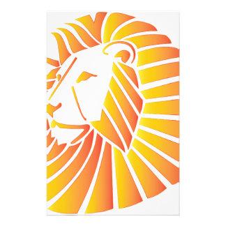 Sonnenuntergang-Löwe Briefpapier