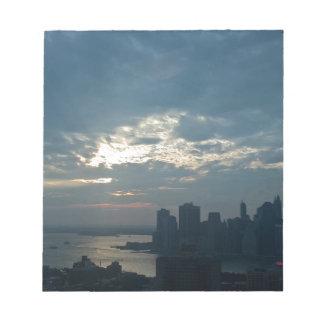 Sonnenuntergang Manhattan1 Notizblock