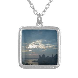 Sonnenuntergang Manhattan1 Versilberte Kette