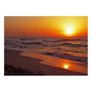 Sonnenuntergang Mini-Visitenkarten