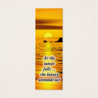Sonnenuntergang-MiniLesezeichen Mini-Visitenkarten