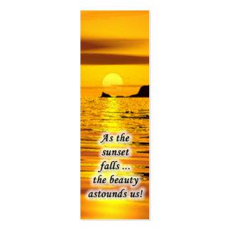 Sonnenuntergang-MiniLesezeichen Visitenkartenvorlagen