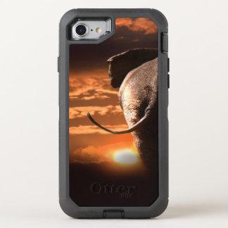 Sonnenuntergang mit Elefanten OtterBox Defender iPhone 8/7 Hülle