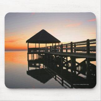Sonnenuntergang mit Reflexionen Mousepad