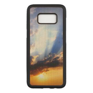 Sonnenuntergang mit Wolken, schöner Himmel Carved Samsung Galaxy S8 Hülle