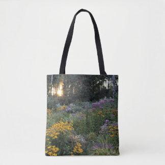 Sonnenuntergang-Mitte September Gärten Tasche