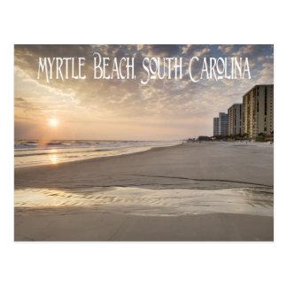 Sonnenuntergang Myrtle Beach, South Carolina Postkarte