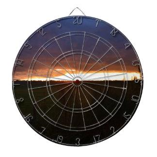 Sonnenuntergang nahe Southwold Dartscheibe