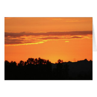 Sonnenuntergang Notecard Karte