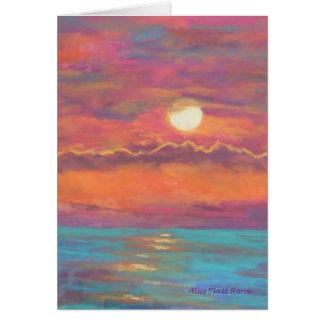 Sonnenuntergang Notecards Karte