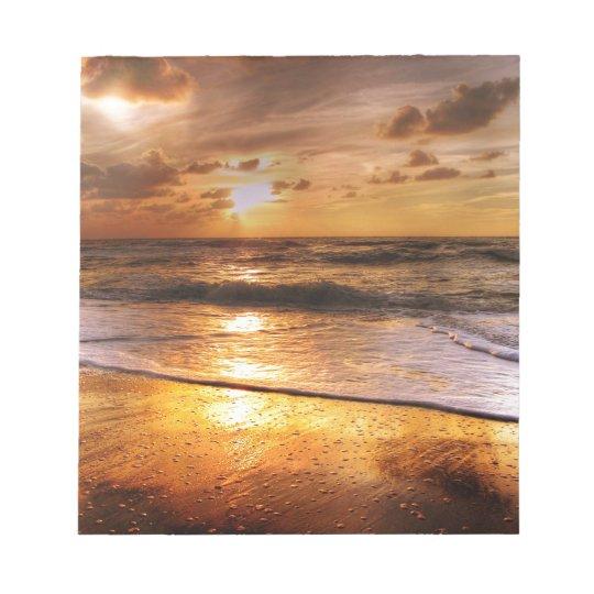 Sonnenuntergang Notizblock