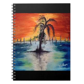 Sonnenuntergang-Orangen-Notizblock Notizblock