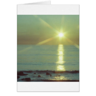 """Sonnenuntergang-Ozean-"" Anlassgrußkarte Karte"
