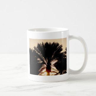 Sonnenuntergang-Palmen Kaffeetasse