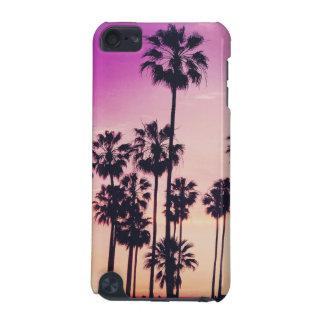 Sonnenuntergang-Palmen-lila tropischer Himmel iPod Touch 5G Hülle