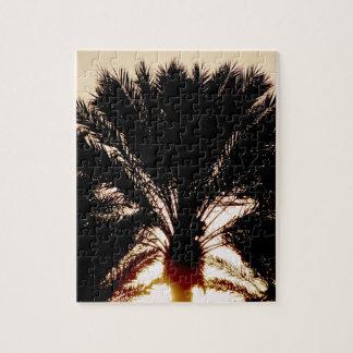 Sonnenuntergang-Palmen Puzzle