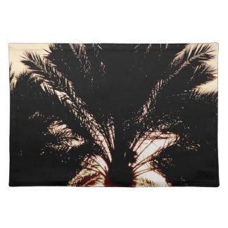 Sonnenuntergang-Palmen Tischset