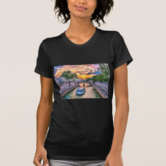 Sonnenuntergang Paris die Seine T-Shirt