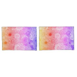 Sonnenuntergang-PastellblumenBlumen Boho Reise Kissenbezug