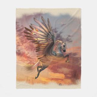 Sonnenuntergang-Pegasus-Fleece-Decke, MED, Fleecedecke