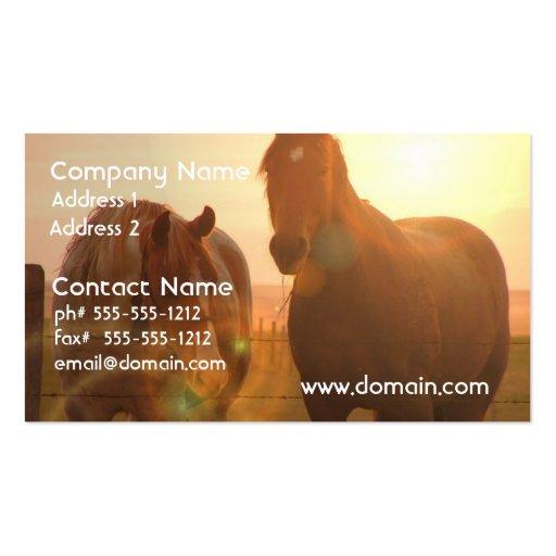Sonnenuntergang-PferdeVisitenkarte Visitenkarte