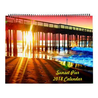 Sonnenuntergang-Pier-Wandkalender 2018 Abreißkalender