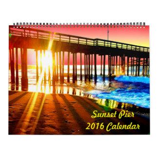 Sonnenuntergang-Pier-Wandkalender 2018 Wandkalender