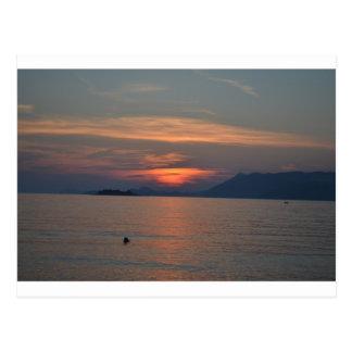 Sonnenuntergang-Postkarte Dubrovniks, Kroatien Postkarte