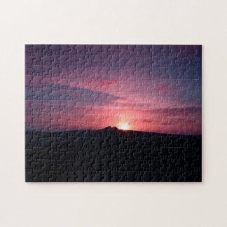 Sonnenuntergang-Puzzlespiel Puzzle