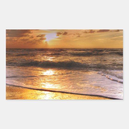 Sonnenuntergang Rechteckiger Aufkleber