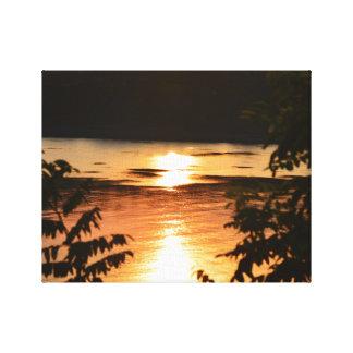 Sonnenuntergang-Reflexionen Leinwanddruck