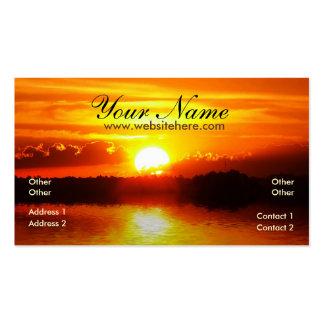 Sonnenuntergang-Reflexions-Visitenkarte Visitenkarten
