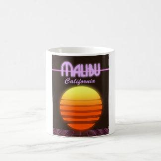 Sonnenuntergang-Reiseplakat Malibus Kalifornien Kaffeetasse