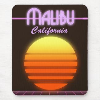 Sonnenuntergang-Reiseplakat Malibus Kalifornien Mauspad