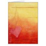 Sonnenuntergang-romantische Geburtstags-Karte